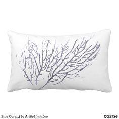 Blue Coral 3 Lumbar Pillow