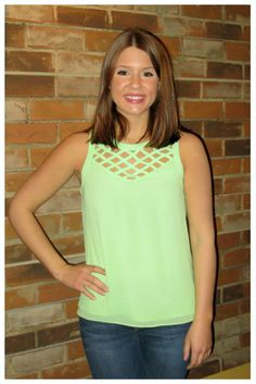"""Lydia Lime Top"" $42 sizes s-l  Call us to order or ship 315-565-5586 or fill out our shopping account form to purchase! Have questions, ask away!!  https://secure.jotform.co/form/31705603990858"