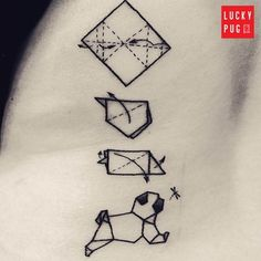 Take a look at our collection of shoulder and back pug tattoos photos. Lucky Pug showcases the web's most awesome pug tattoos on the back and shoulders. Origami Tattoo, Cat And Dog Tattoo, Pug Tattoo, Get A Tattoo, Sexy Tattoos, Tattoos For Women, Cool Tattoos, Tatoos, Lover Tattoos