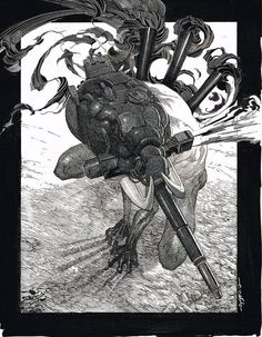 Original ink rendering on scratchboard measuring used for the 2019 official Metallica World-Wired Tulsa show. Because scratchboard is rigid-body, this piece will be packed and shipped flat. Gravure Illustration, Illustration Art, Art Sketches, Art Drawings, Character Art, Character Design, Monochromatic Art, Scratchboard Art, Fan Art
