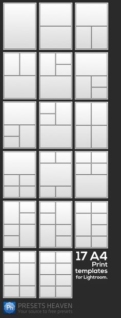 Check out these 17 A4 Print Templates for Lightroom that I made earlier this week.