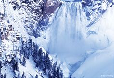 Yellowstone Falls with frosting -