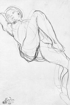 Rodin - Reclining Female Nude Uno dei miei artisti preferiti per quanto riguarda i disegni di nudo!