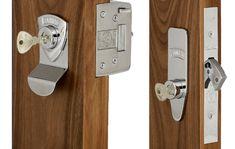 Banham Deadbolt & Two Deadlocks Keyed Alike 4 Keys Bathroom Hooks, Door Handles, New Homes, Woodworking, Keys, Porch, House Ideas, Pictures, Door Knobs