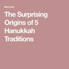 There's lots of history behind favorite Hanukkah traditions such as eating latkes, lighting candles and playing with dreidels. Hanukkah Traditions, Traditional, The Originals, Eat, Origins, Religion, Religious Education, Faith