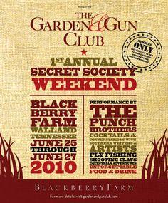 Braxton Crim: Graphic Design: Garden & Gun Magazine Events