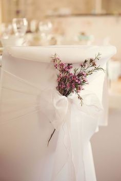 Get shabby chic wedding ideas aplenty with Hannah and Jeffs big day! Pink flowers and tulle as wedding chair decorations. Wedding Chair Decorations, Wedding Chairs, Flower Decorations, Wedding Table, Diy Wedding, Wedding Events, Wedding Flowers, Wedding Ideas, Dress Wedding