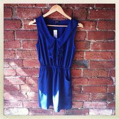 MAXIM blue frill dress