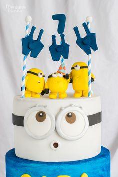Tarta de cumpleaños de Minions Baby Birthday Cakes, Minion Birthday, Minion Party, Despicable Me Cake, Selena Gomez Wallpaper, Baked Bakery, Appetizer Dips, Cake Art, Beautiful Cakes