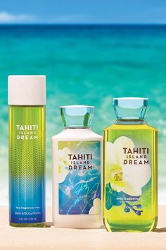 i hsve the purfime lotion snd bodywash Bath N Body Works, Body Wash, Tahiti Islands, Perfume Body Spray, Packaging, Tips Belleza, Body Lotions, Smell Good, The Body Shop