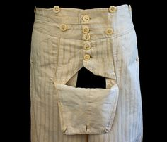 The real thing, regency trousers great fabric ....and now all those romances make sense.