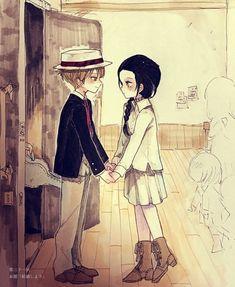 fanart - the promised neverland - Anime Anime Ai, Manga Anime, Anime Kawaii, All Anime, Film Animation Japonais, Desenhos Love, Kamigami No Asobi, Dark And Twisted, Film D'animation