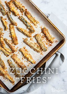 """Zucchini """"Fries"""" hit all the salty, crispy, savory notes you crave and since they're baked instead of deep fried, they're infinitely more healthy for you."""
