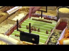 Video of how they made a Snack Mahal!! Craaaazay cool Football Party idea!