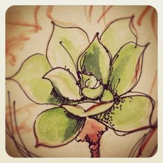 #sketching #watercolours #art #succulents