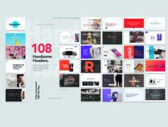 108 Handsome Headers by MisterCreativ™ on @creativemarket  - Download here: https://crmrkt.com/lrjGw: