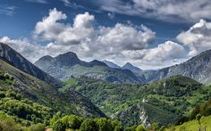 Lataa kuva mountain maisema, kesällä, vuoret, Seguenco, Asturias, Espanja