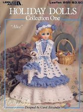 """Holiday Dolls Collection 1, 15"""" doll crochet patterns"""