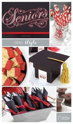 Get creative with your school colors at your graduation party!