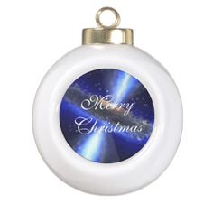 M33 Black hole in space Ceramic Ball Christmas Ornament