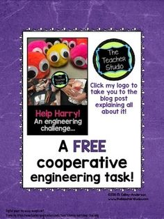 Hands On Science Investigations: Help Harry! FREEBIE {A great way to squeeze in cooperative learning, science, AND engineering!}