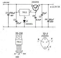 Alimentatori schemi - iz0upss JimdoPage! Electronics Projects, Hobby Electronics, Electronics Gadgets, Electronics Storage, Battery Charger Circuit, Radio Shop, Electronic Circuit Design, Car Audio Installation, Robotic Automation