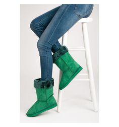 Mukluki śniegowce ciepłe za kostkę Zielone - Sklep IMMODA.pl #mukluki #sniegowce #buty #moda #polishgirl #poland #okazje #winter