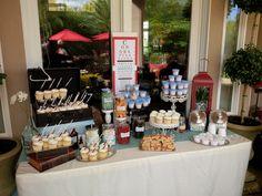 Nurse Practitioner Graduation Party Dessert Buffet Table #custompartydecorations #partystylist #noveldesigns #lasvegas
