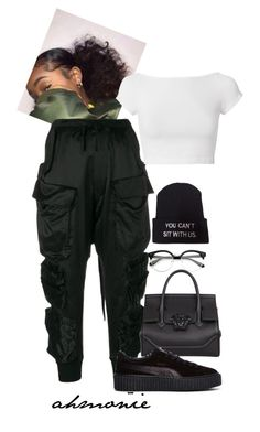 """""""9.15.17"""" by ahmonie ❤ liked on Polyvore featuring Unravel, Helmut Lang, Versace and Puma"""