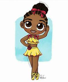 Black Love Art, Black Girl Art, Black Is Beautiful, Art Girl, African American Artwork, African Art, Kawaii Drawings, Cute Drawings, Drawings Of Black Girls