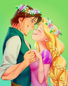 This is the cutest Rapunzel and Eugene drawing I've ever seen! You can feel how much they love each other and it's so precious! ❤
