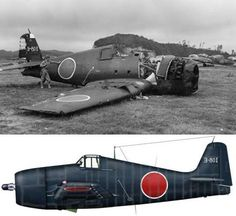 A Grumman F6F-5 (s/n 71441) found at Yokosuka Naval Air Base near Toyko. The aircraft was flown by Charles V. AUGUST of VF-44 (USS Langley) when he was shot down and crash landed on Formosa. He became a POW of the Japanese on 4 January 1945. It was the second time that he had been shot down and made a POW, the first being as a POW of the Vichy French on 11 August 1942
