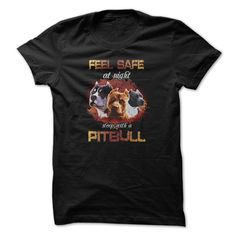 (New Tshirt Choose) Pitbull t-shirt Feel safe with pitbull at Tshirt United States Hoodies, Tee Shirts