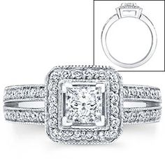 Princess & Round Brilliant Cut Diamond Ring (1.22 ctw)  Platinum  LOVE this ring..... Costco