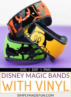 Decorate your Disney Magic Bands with personalized vinyl decals the easy way! The step-by-step video tutorial will show you how to design your decals in the Silhouette Software. Download the Magic Band template on the blog and start crafting! | simplymadefun.com #vinyltip #vinylprojects #crafttutorials #crafts #silhouettecameo #svgcutfiles via @simplymadefun