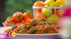 Davina McCall's turkey meatballs with couscous and creamy tomato sauce recipe