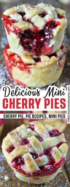 Cherry Desserts, Cherry Recipes, Köstliche Desserts, Delicious Desserts, Sour Cherry Cake Recipe, Easy Fun Desserts, Mini Pie Recipes, Mini Dessert Recipes, Vegan Recipes