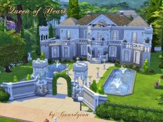 Queen of Heart house by Guardgian at TSR via Sims 4 Updates
