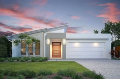 South Australia Home Design - GJ Gardner make building your new home stress free. Contemporary House Plans, Modern House Plans, Home Design, Front House Landscaping, Modern House Facades, Latest House Designs, Bungalow House Design, House Blueprints, Dream House Exterior