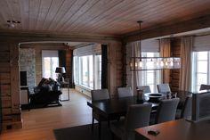 Norwegian cabin Kitchen Dining, Divider, Kitchens, Cabin, Curtains, Room, Furniture, Home Decor, Bedroom