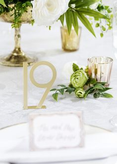 Pack of 25 Gold Metal Table Numbers - Tall Wedding Table Centerpieces, Diy Wedding Decorations, Table Decorations, Wedding Ideas, Wedding Tables, Wedding Stuff, Centerpiece Flowers, Wedding Inspiration, Centerpiece Ideas