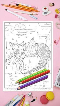 Llama Unicorn Mermaid Llamacorn Colouring Page Printable ...