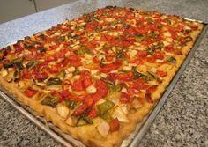 Coca de verduras Delicious Vegan Recipes, Vegetarian Recipes, Yummy Food, Healthy Recipes, Pasta Recipes, Salad Recipes, Cooking Recipes, Quiches, Vegetable Recipes