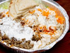 Chicken and Lamb Over Rice at Famous Halal Guys #nyc #restaurant