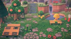 My cozy little garden 🌿 : AnimalCrossing Woodland Theme, Rustic Theme, Animal Games, My Animal, Ac New Leaf, How To Play Minecraft, Animal Crossing Game, Island Design, Cozy