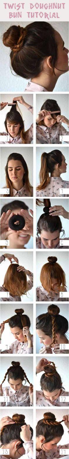Twist  Doughnut  Bun  Tutorial