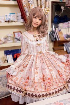 South Deer -Hamster Princess's Knight Dream- Lolita Collar OP Dress