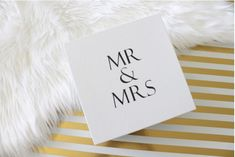 WEDDING GIFT IDEAS | Mr and Mrs Couple's Gift Box | Gifts for Couples