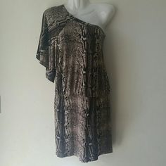Final Price One shoulder animal print romper Brand new never been worn Pants Jumpsuits & Rompers