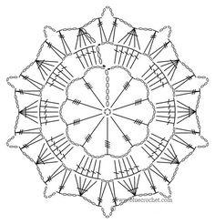 Watch The Video Splendid Crochet a Puff Flower Ideas. Phenomenal Crochet a Puff Flower Ideas. Crochet Diagram, Crochet Chart, Thread Crochet, Filet Crochet, Diy Crochet, Crochet Doilies, Crochet Snowflake Pattern, Crochet Blocks, Crochet Snowflakes